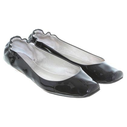 Dolce & Gabbana Lackleder-Ballerinas in Schwarz