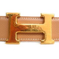 Hermès Leather belt with H buckle in gold