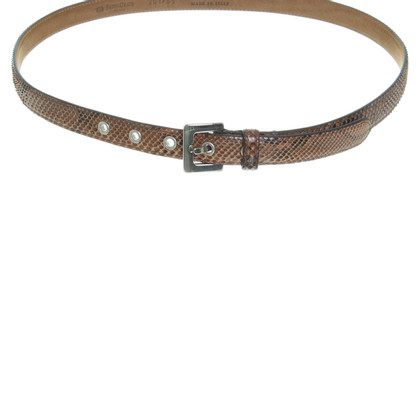 Fausto Colato Python leather belt