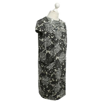 Twin-Set Simona Barbieri Kleid mit Print in Grau