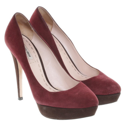 Miu Miu pumps in bicolor