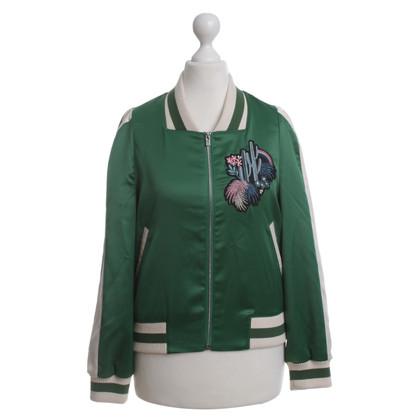 Maje Satin College jacket