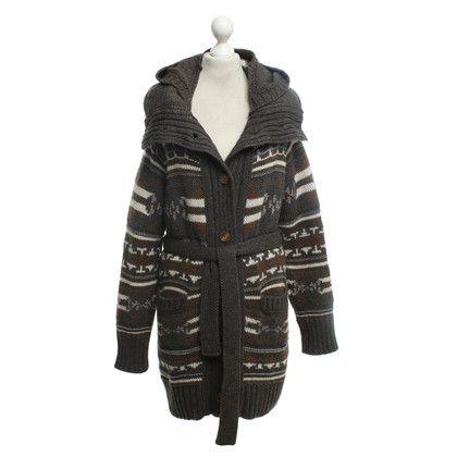 Drykorn Knitted coat with Norwegian pattern