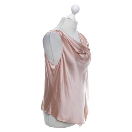 Halston Heritage haut de soie en Rosé