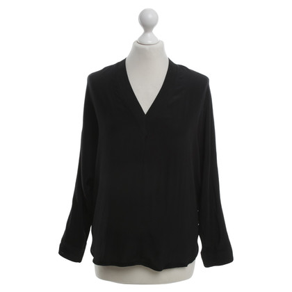 Sandro Silk blouse in black