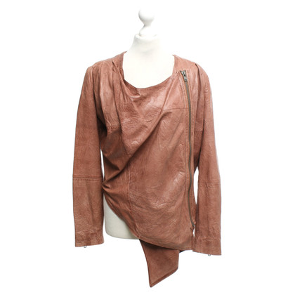 Gestuz Leather jacket in brown