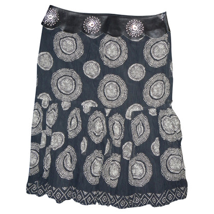 Ermanno Scervino skirt silk/leather