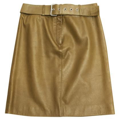 Céline leather skirt