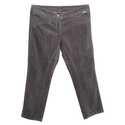 Marc Cain Velvet-trousers in grey