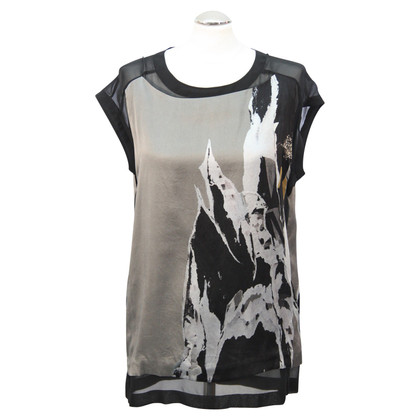 All Saints Silk top with pattern