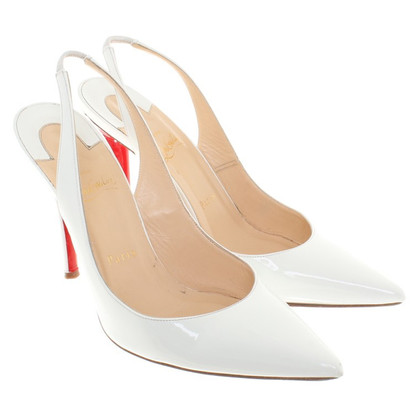 Christian Louboutin Slingbacks in white