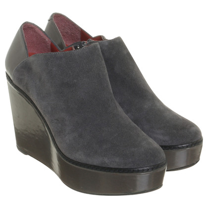 Paco Gil Wedge ankle boots with material mix