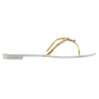 Giuseppe Zanotti Flip Flops met strasssteentjes