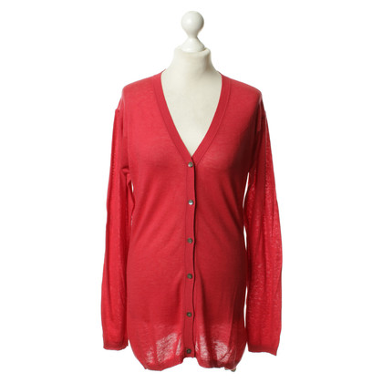 Friendly Hunting Cardigan in red