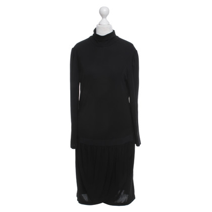 Ferre Roll collar dress in black