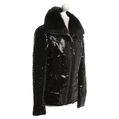 Jet Set Fur jacket with sequins