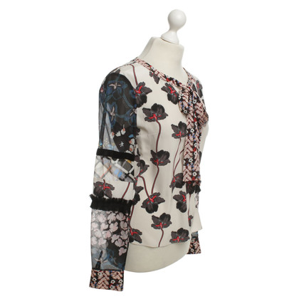 Dorothee Schumacher Silk blouse with a floral pattern