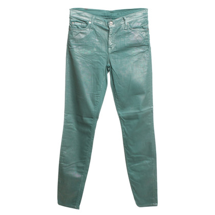 7 For All Mankind Hose im Metallic-Look