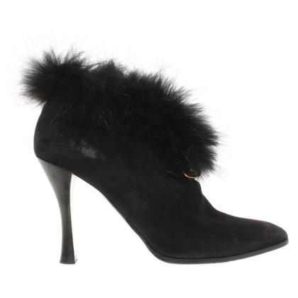 Hermès pumps con rifiniture in pelliccia