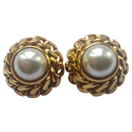 Céline Pearl clip earrings
