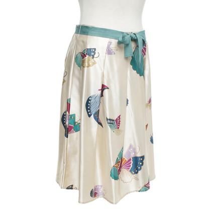 Bruuns Bazaar Silk skirt with pattern