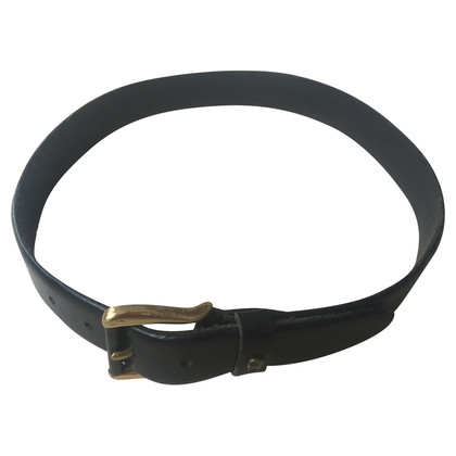 Aigner Black leather belt