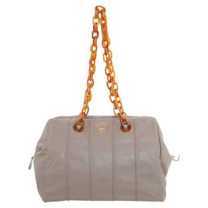 Prada Handtasche in Taupe