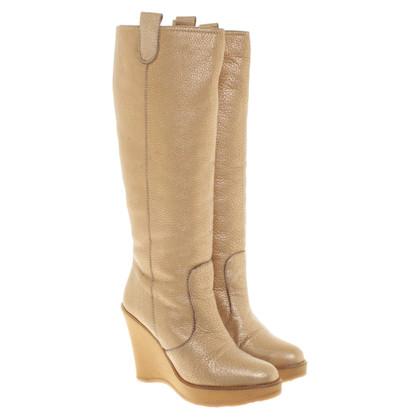 Bally Platform boots with lambskin