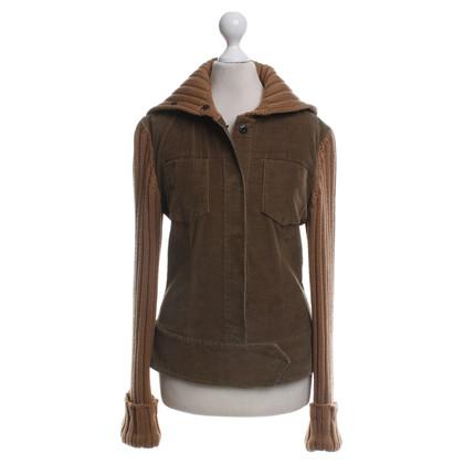 Dolce & Gabbana giacca di velluto in ocra