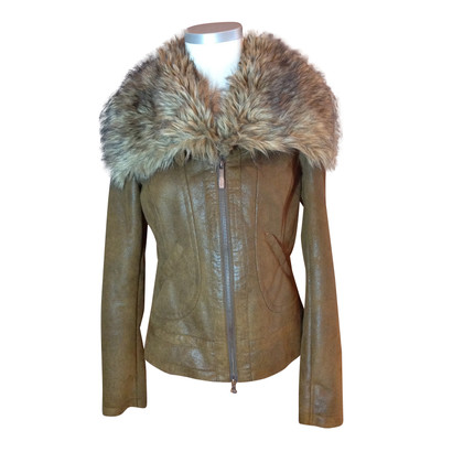 Armani Jeans Web fur jacket