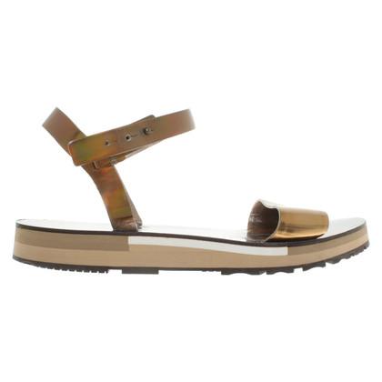 Lanvin Golden leather sandals