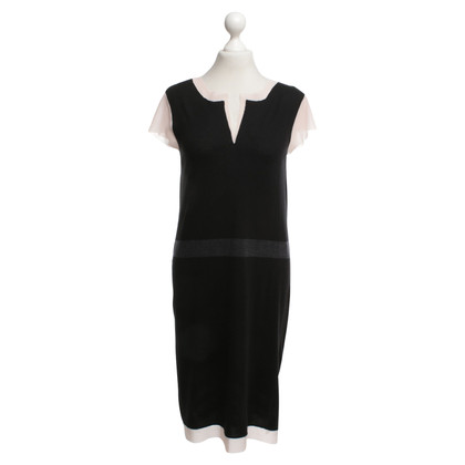 René Lezard Knitted dress in black / nude