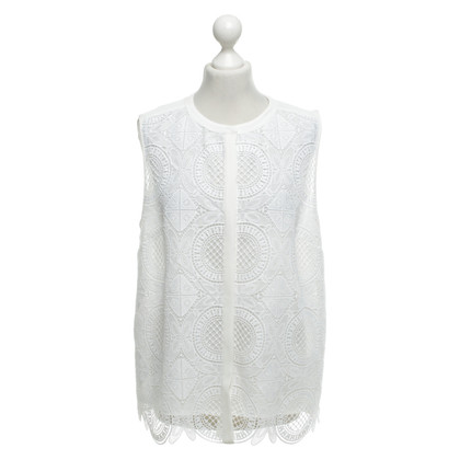 Diane von Furstenberg Blouse with crochet lace