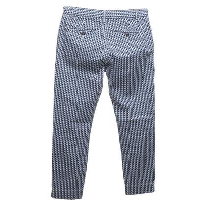 Closed Katoenen broek met een patroon