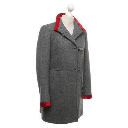 Fay Coat in grey / red