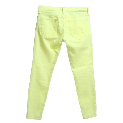 Current Elliott Jeans in neon yellow