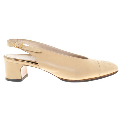Chanel Slingbacks in Beige