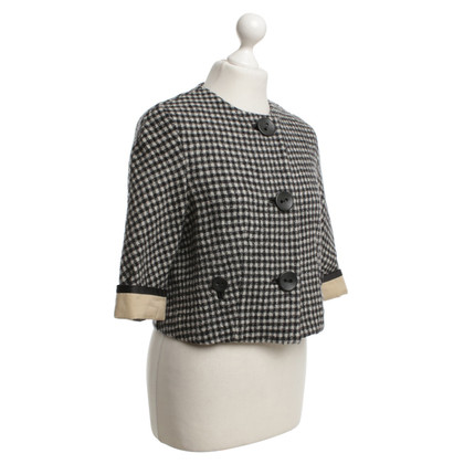 3.1 Phillip Lim Blazer Gecontroleerd in zwart / White