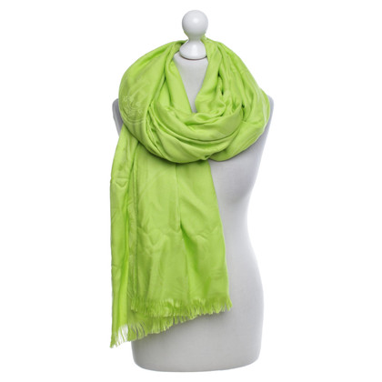 Hermès Pistachio colored scarf
