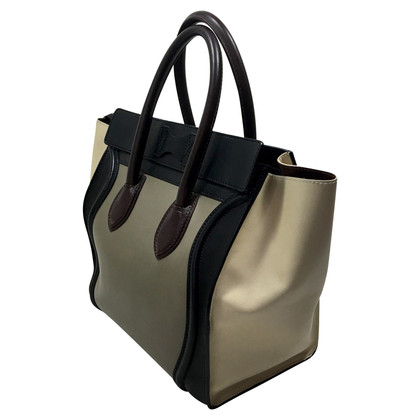 """Céline """"Mini Luggage Bag"""" in Tricolor"""