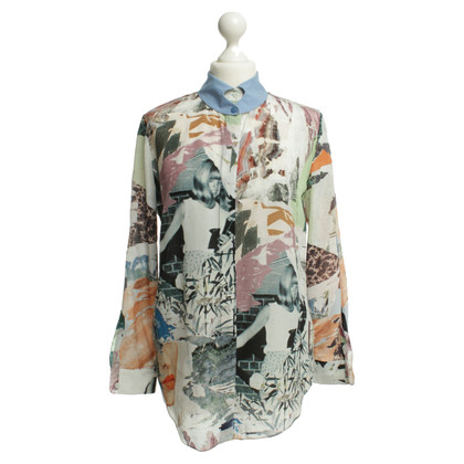 Carven Silk blouse with patterns