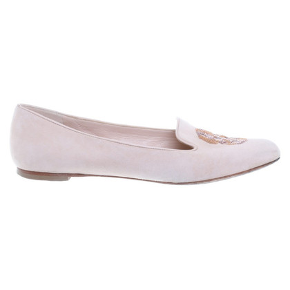Alexander McQueen Loafer in Creme