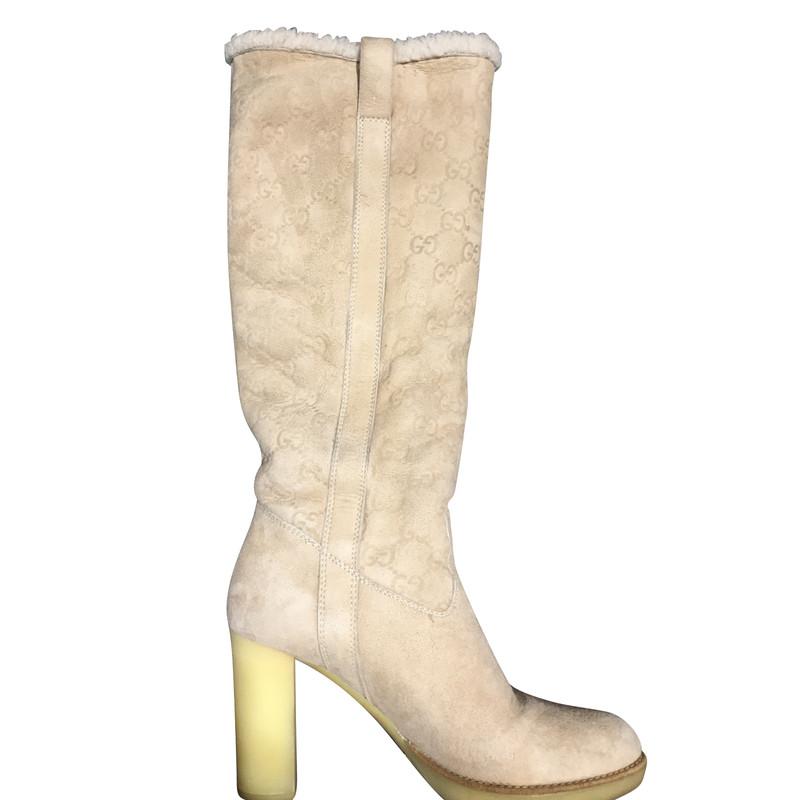 gucci stiefel second hand gucci stiefel online shop, gucci stiefel  gucci stiefel aus wildleder in beige