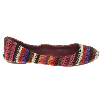 Missoni Ballerinas with colorful pattern