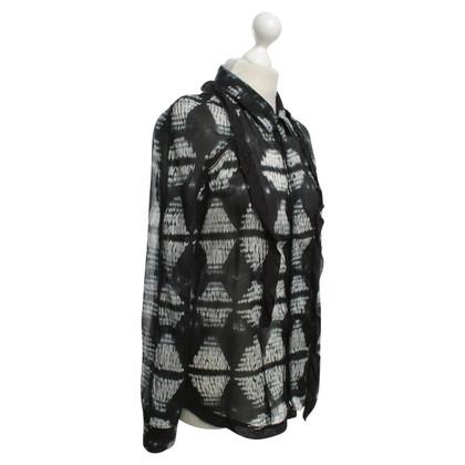 Proenza Schouler Blouse with batik pattern