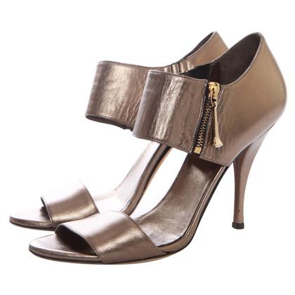 Gucci bronze colored sandals