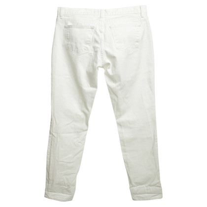 J Brand White jeans in used look