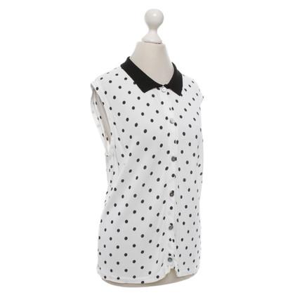 Valentino top in black and white
