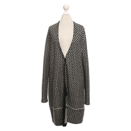 FTC Knitted cardigan in black and white