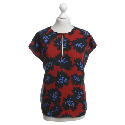 J. Crew top with floral pattern